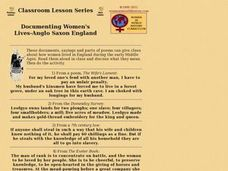 Documenting Women's Lives - Anglo-Saxon England Lesson Plan
