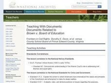 Documents Related to Brown v. Board of Education Lesson Plan