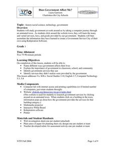 Does Government Affect Me? Lesson Plan