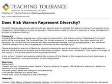 Does Rick Warren Represent Diversity? Lesson Plan