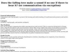 Does the falling tree make a sound if no one if there to hear it? (or communication via encryption) Lesson Plan