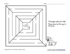 Dog Maze Activity Worksheet