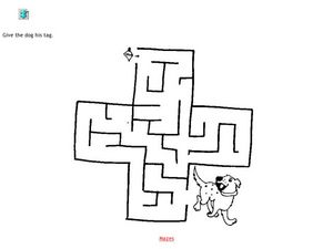 Dog Tag Maze Worksheet