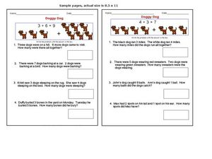 Doggy Dog: Addition Word Problems Worksheet