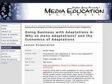 Doing Business With Adaptations A: Why So Many Adaptations? and the Economics of Adaptations Lesson Plan