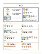 Dollars Worksheet