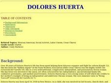 Dolores Huerta Lesson Plan