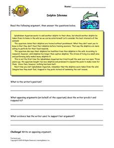 Dolphin Dilemma Lesson Plan