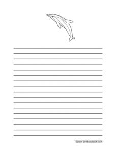 Dolphin Writing Worksheet