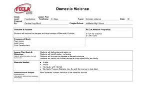 Domestic Violence Lesson Plan
