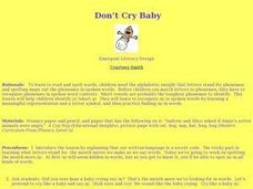 Don't Cry Baby Lesson Plan