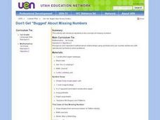 Don't Get Bugged About Missing Numbers Lesson Plan