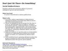 Don't Just Sit There-Do Something! Lesson Plan