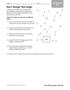 Don't Mangle That Angle - Enrichment 14.1 Worksheet