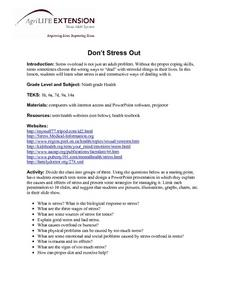 Don't Stress Out Lesson Plan