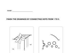 Dot to Dot Numbers 1-3 Worksheet