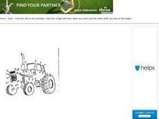 Dot to Dot Page: Tractor Worksheet