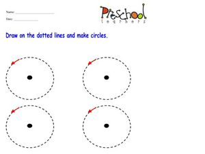 Dotted Line Circles Worksheet