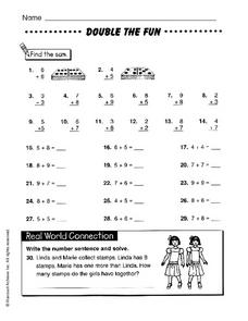 Double the Fun Worksheet