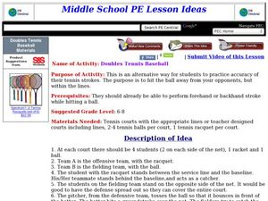 Doubles Tennis Baseball Lesson Plan