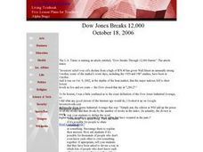 Dow Jones Breaks 12,000 Lesson Plan