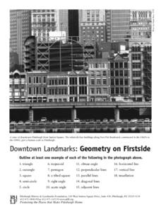 Downtown Landmarks: geometry on Firstside Worksheet