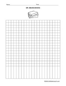 Dr. Seuss Blank Graph Lesson Plan