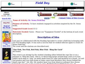 Dr. Seuss Field Day Lesson Plan