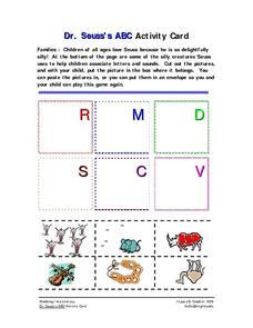 Dr seuss abc book preschool activities