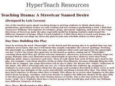 Drama: A Streetcar Named Desire Lesson Plan