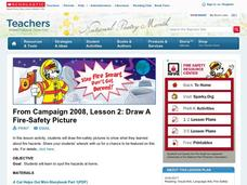 Draw A Fire-Safety Picture Lesson Plan