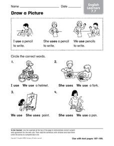 Draw a Picture: English Learners Worksheet