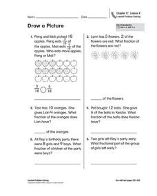 Draw a Picture - Fractions Worksheet
