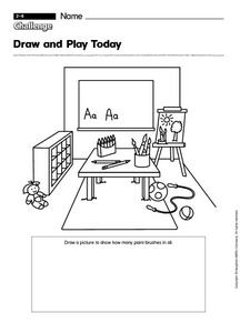 Draw and Play Today Worksheet