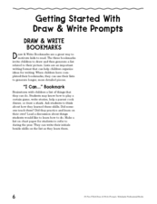 Draw and Write Bookmarks Lesson Plan