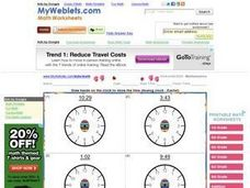 Draw the Hands on the Clock 2 Worksheet