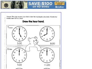 Draw the Hour Hand Worksheet