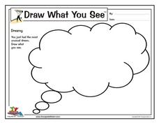 Draw What You See- Dreams Worksheet