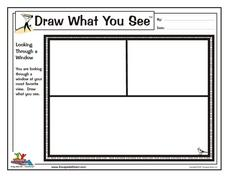 Draw What You See: Looking Through a Window Worksheet