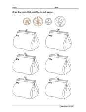 Drawing coins Worksheet