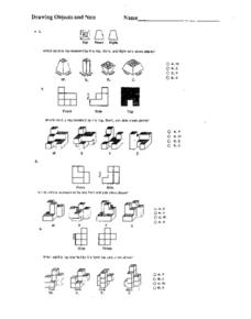 Drawing Objects and Nets Worksheet
