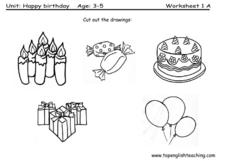 Drawings of Birthday Party Items (To Go With Previous Page) Lesson Plan