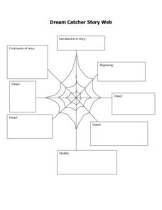 Dream Catcher Story Web Lesson Plan