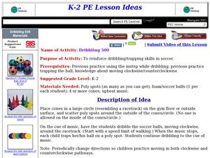 Dribbling 500 Lesson Plan