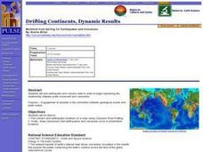 Drifting Continents, Dynamic Results Lesson Plan