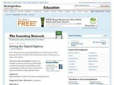 Driving the Digital Highway Lesson Plan