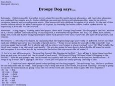 Droopy Dog says.... Lesson Plan