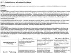 DTP: Redesigning a Product Package Lesson Plan