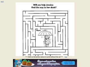 Duck Maze Worksheet