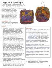 Dug-Out Clay Plaque Lesson Plan